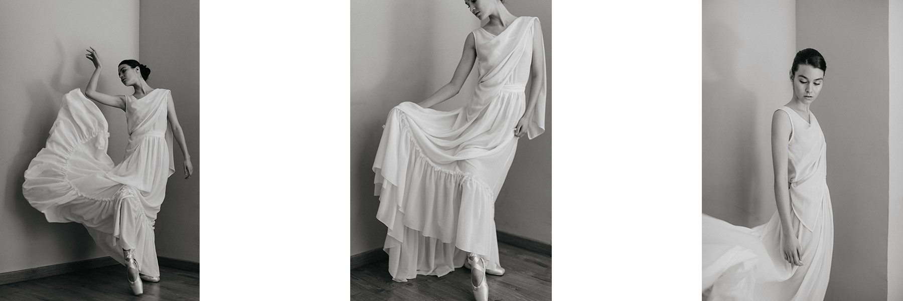 Traje de novia inspirado en la danza diseñado por Impúribus, la firma de moda especializada en vestidos de novia e invitada