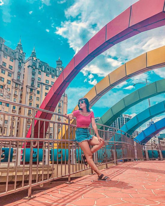 中港大排 新莊景點,幸福站,環狀線幸福站,彩虹景點,彩虹