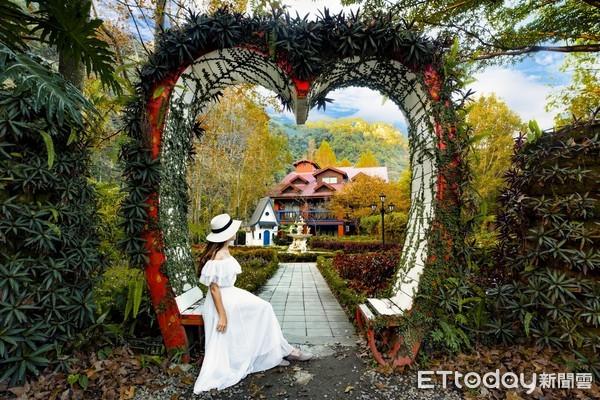 ▲歐式花園的美麗景色讓人彷彿身在異國。(圖/楓樺台一休閒農場提供)