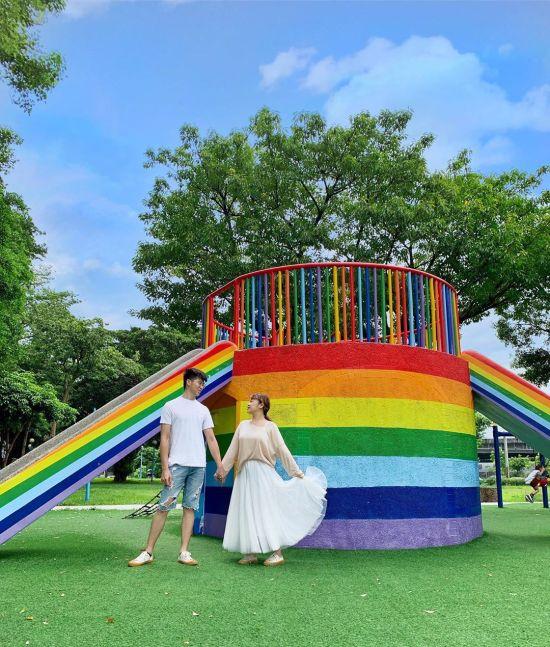 三重同安公園|三重公園,三重景點,三重景點推薦,三重親子公園,彩虹溜滑梯