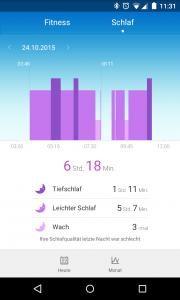 Huawei Wear Schlafdetails