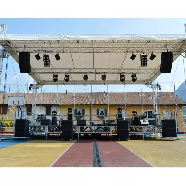 light frame outdoor concert stage tent