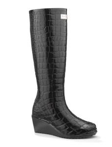 gummistøvler med kilehæl