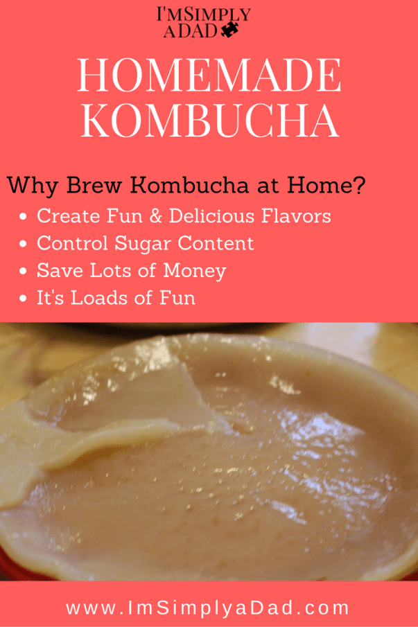 Homemade Kombucha: An easy recipe to brew your own kombucha at home using a SCOBY, green or black tea, and sugar. Plus, flavor ideas to make different healthy fermented drinks fit your taste buds. #fermentedfoods #guthealth
