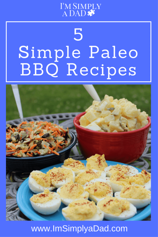 Paleo BBQ: 5 ideas for a healthy barbecue that will fit almost any diet. These easy recipes are also gluten free, dairy free, and I even have a lower carb potato salad.(w/o potatoes) I also have a sugar free barbecue sauce. These paleo bbq sides are so easy and delish that you will want to add them to your regular dinner menu.