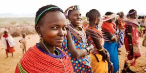 African Women Wearing Traditional Clothing --- Image by © Scott Stulberg/Corbis