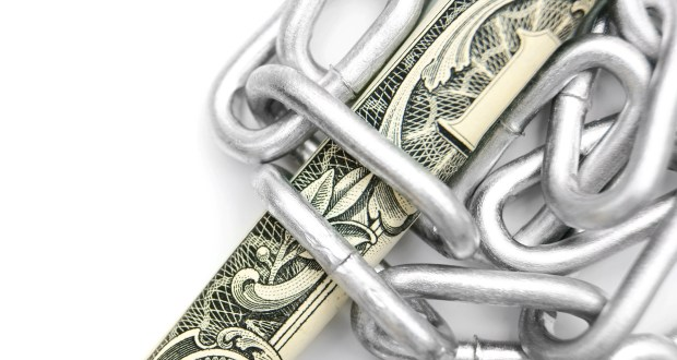 Chain and money.