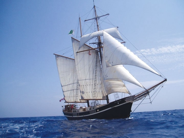 1947 Tallship Gaff Rigged Topsail Schooner For Sale