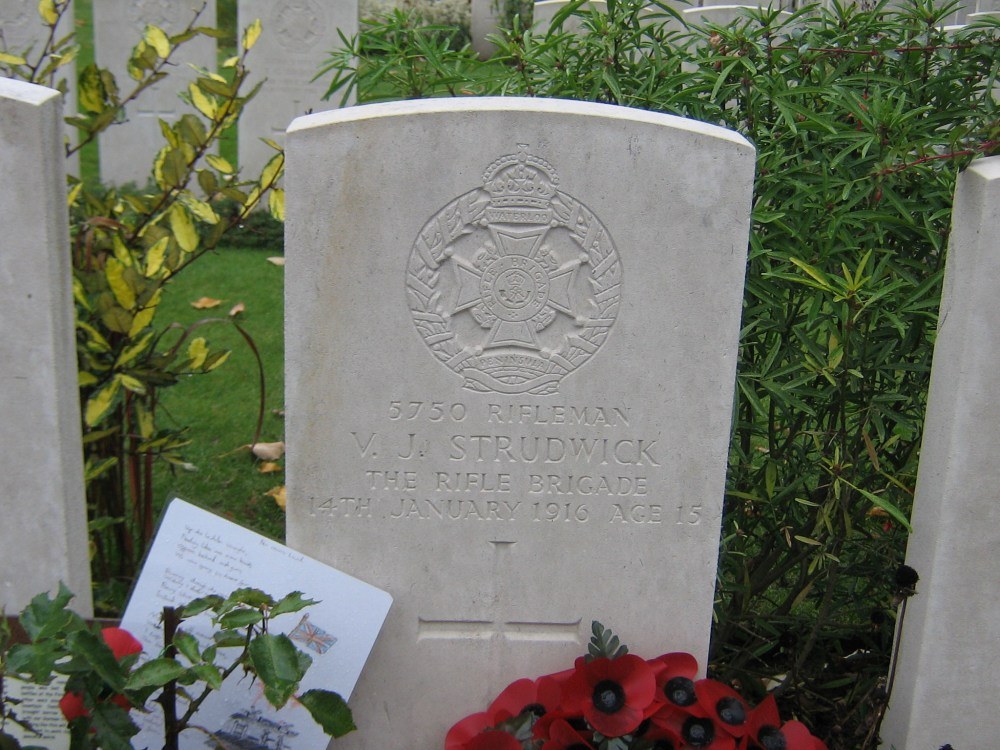 Rfn VJ Strudwick,8th Bn Rifle Bde,KIA 140116 (1/2)