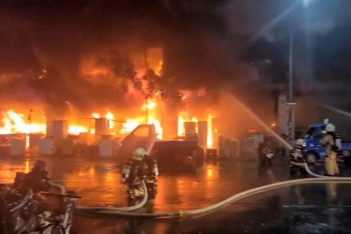 Taiwan Residentail Blaze Kills Dozens