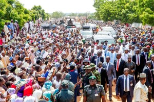 Buhari trekking 800 meters today shows he is fit for second term says Garba Shehu
