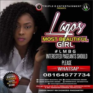 Lagos Most Beautiful Girl; Most Beautiful Girl in Lagos