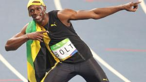 Pictures of his Usain Bolt's newborn daughter Olympia Lightning Bolt.