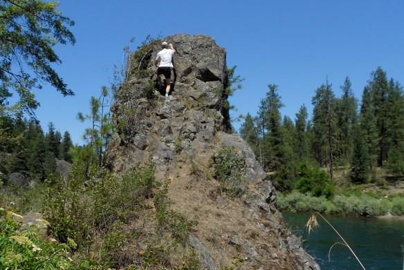 Rivr park rock climbing