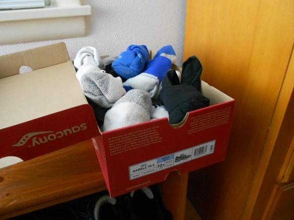 shoebox sock storage
