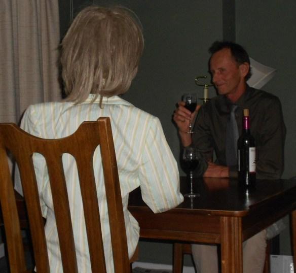 Jim drinking w:friend