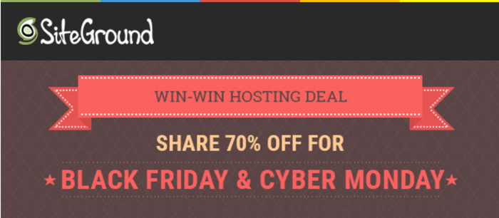 Siteground Black Friday & CyberMonday deals