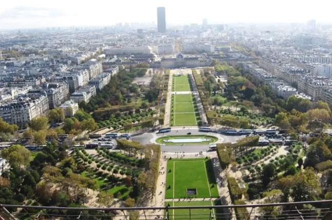 View from the Eiffel Tower Seine