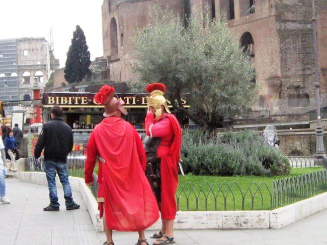 Gladiators in the Colosseum in Rome