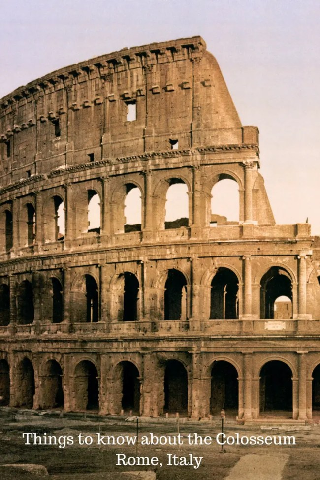 Things to know about the Colosseum in Rome, Italy