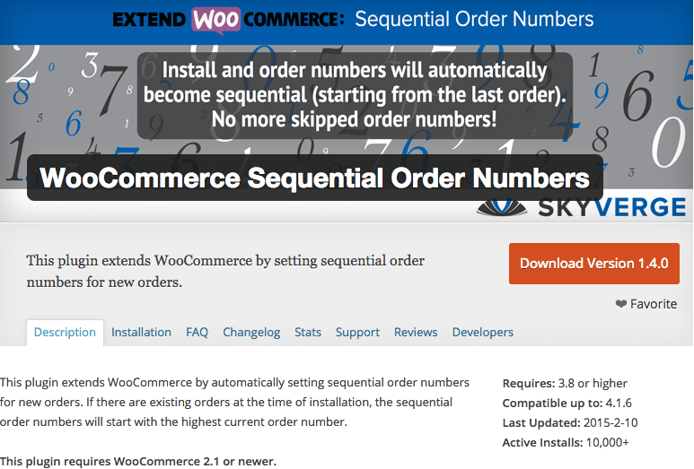 WooCommerce Sequential Order Numbering