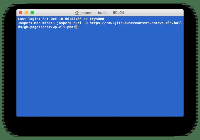 Shell - Download WP CLI