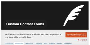 Custom Contact Forms Plugin