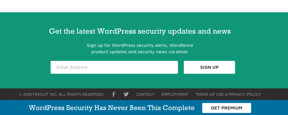 Wordfence newsletter