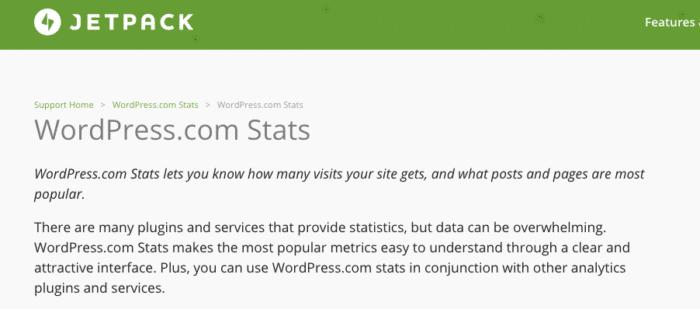Jetpack Stats