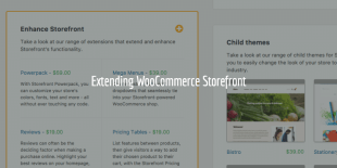 Extending WooCommerce Storefront