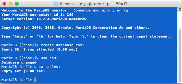 MariaDB Database Creation