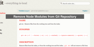 Remove Node Modules From Git Repository