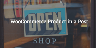 WooCommerce Product In Blog Post