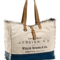 Shopper Grau/Blau Canvas