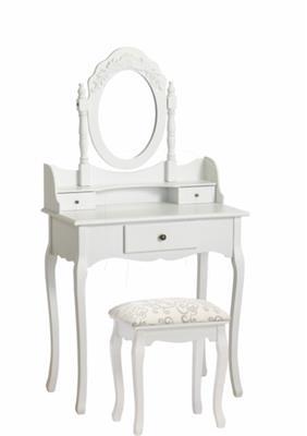 Konsolentisch mit Kippspiegel, weiß