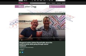 Adrian Russell Author Nothing Left But Fear With Julian Clegg on BBC Radio Solent