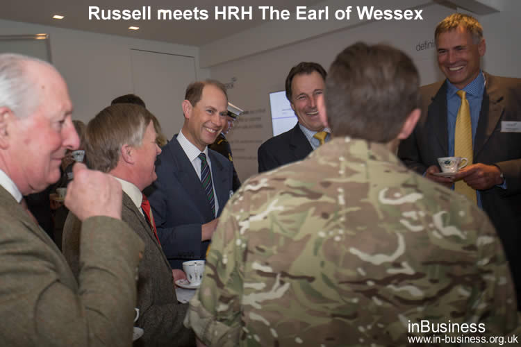 Russell Bowyer meets HRH Earl of Wessex through his Chairmanship of Business Improvement District