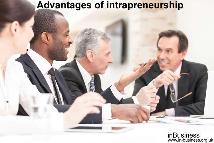 Advantages of intrapreneurship versus disadvantages of intrapreneurship