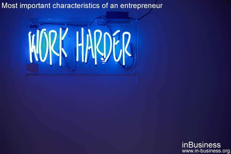 Characteristics of an entrepreneur - self starter and motivated