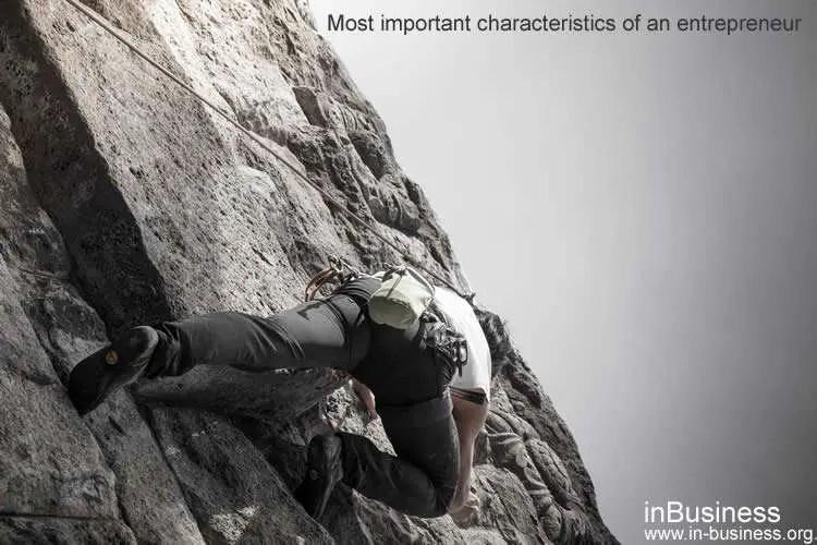 Characteristics of an entrepreneur - tenacity and determination