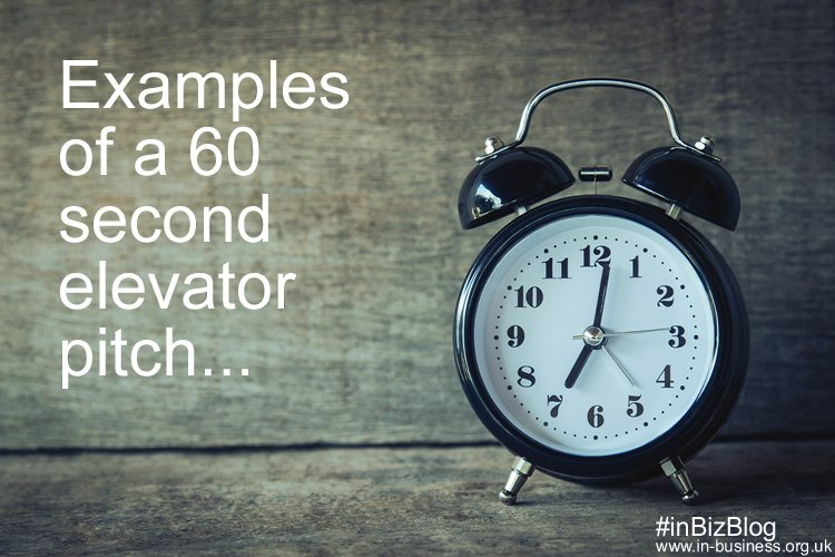 60 second elevator pitch example