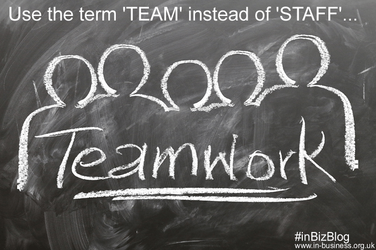 Employee retention strategies use term team not staff
