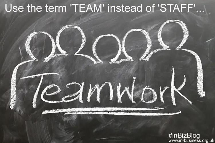 Employee retention strategies use term team not staff