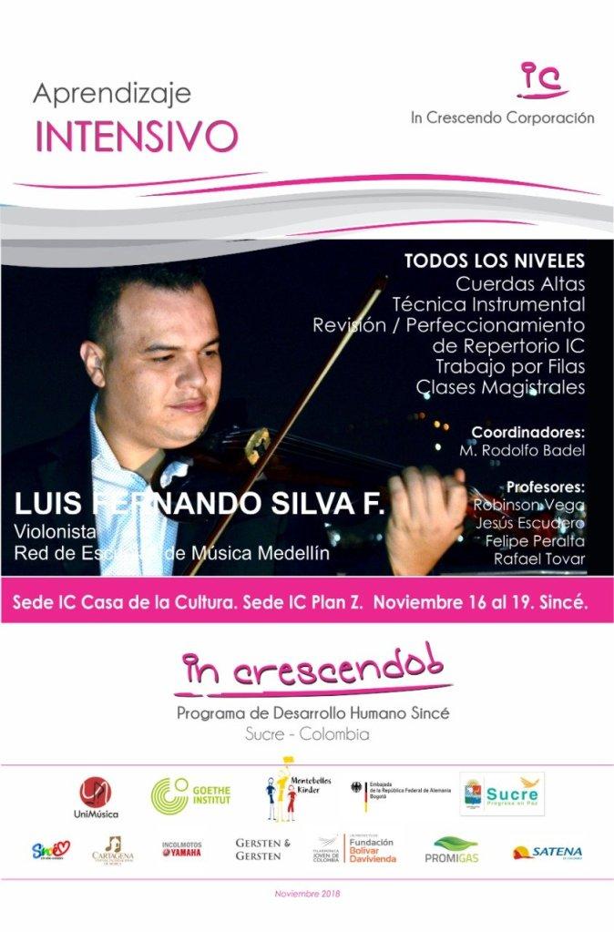 Luis Fernando Silva F. profesor en el programa Intensivo