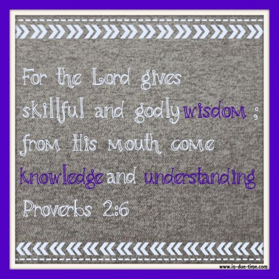 Memory Monday - Week 97 - Proverbs 2