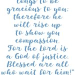 Isaiah 30:18 God of Justice #216