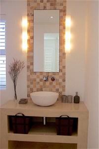 Bathroom vanity with vessel sink