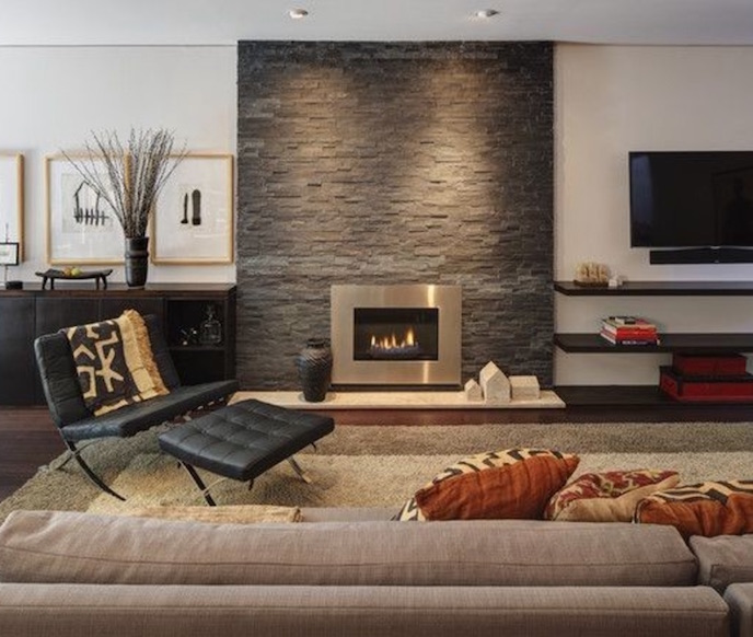 Tv And Fireplace In One Room Find The Perfectly Happy Spot For That Black Beast In Form Design Wellness Kitchen Closet Design