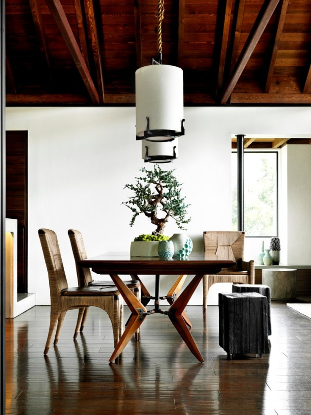 bonsai as the centre piece in the dining room via planner5d.com