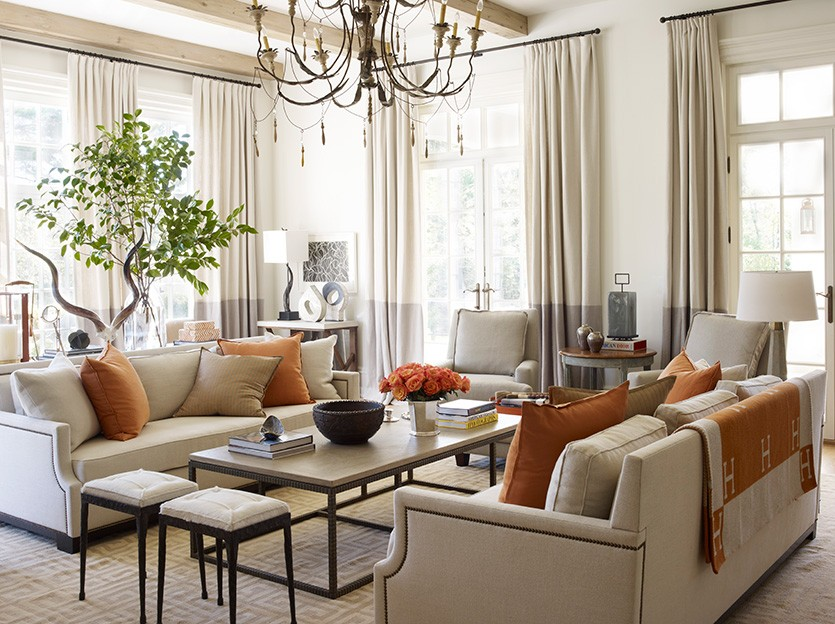 living room when you need height via howtodecorate